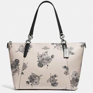 Coach NWT Floral Large Satchel Bag